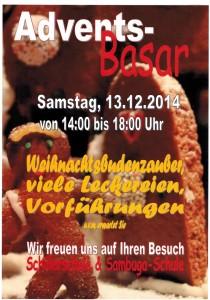 Plakat Adventsbasar Dez. 2014